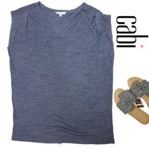 Cabi tee shirt style 259 size large heather blue